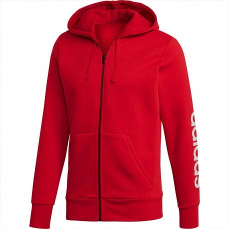 Adidas Essentials Linear Full Zip Hoodie Férfi Felső (Piros) CZ9012 476ca459ce