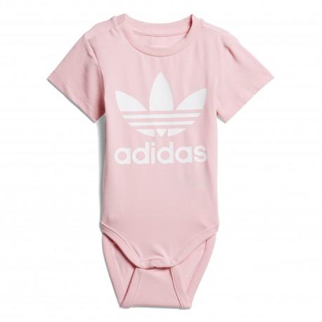 Adidas Originals I Trefoil Body Kislány Bébi Body (Rózsaszín-Fehér) D96071 3da8b37cd0