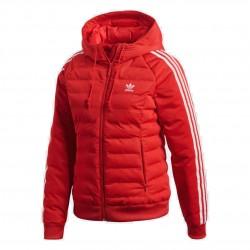 Adidas Originals Slim Jacket Női Kabát (Piros-Fehér) DH4585