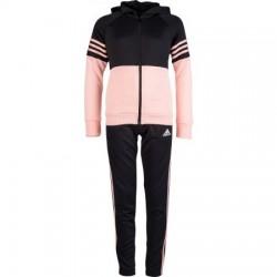 Adidas YG Hooded Track Suit Lány Gyerek Melegítő Együttes (Fekete-Barack) DI0165