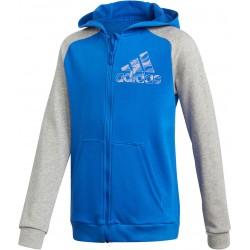 Adidas YB CP FZ Hoodie Fiú Gyerek Felső (Kék-Szürke) DI0321
