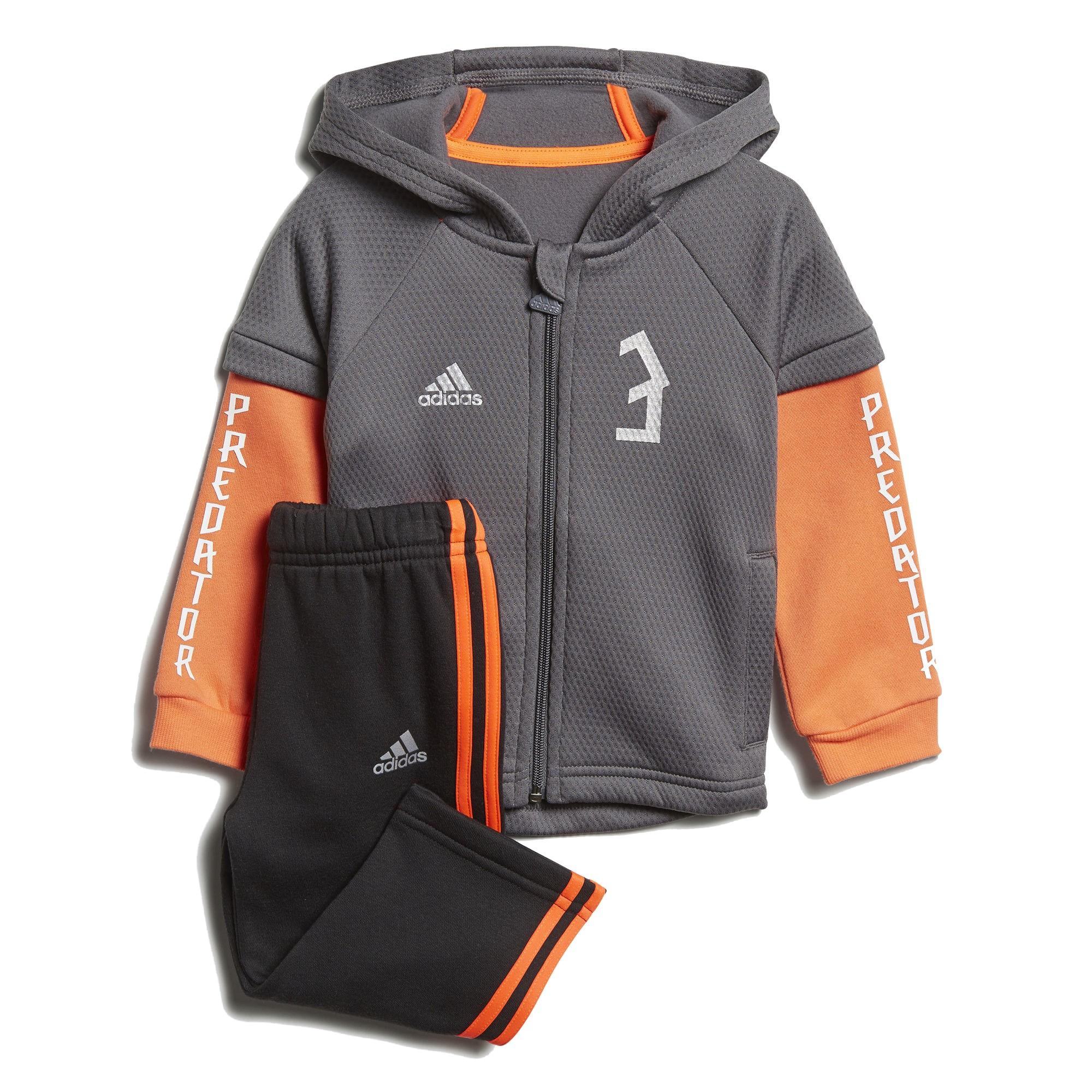 Adidas Predator Mini Me Track Suit Kisfiú Bébi Melegítő Együttes  (Szürke-Narancssárga) DJ1562 c108ede11f