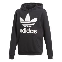 Adidas Originals J Trefoil Hoodie Fiú Gyerek Pulóver (Fekete-Fehér) CD6499