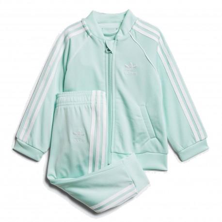 Adidas Originals SST Track Suit Uniszex Bébi Melegítő Együttes (Világoszöld- Fehér) D96059 adcae86031