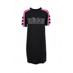 Adidas Originals Tee Dress Női Ruha (Fekete-Rózsaszín) DH4190