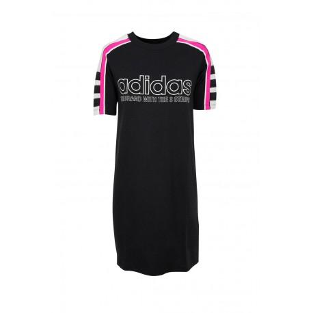Adidas Originals Tee Dress Női Ruha (Fekete-Rózsaszín) DH4190 c631a7717e