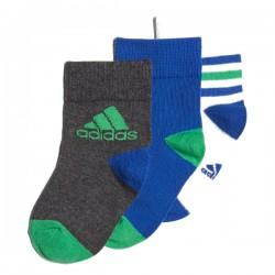 Adidas Ankle Socks 3 PP 3 Páras Gyerek Zokni (Fehér-Kék-Zöld-Sötétszürke) DJ2271
