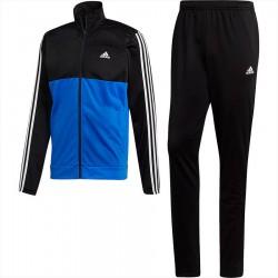Adidas Back 2 Bas 3 Stripes Track Suit Férfi Melegítő Együttes (Fekete-Kék-Fehér) DN8722