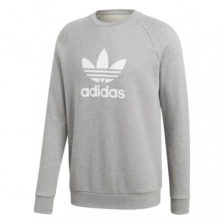Adidas Originals Trefoil Crew Férfi Pulóver (Szürke-Fehér) CY4573 85c4eef7a5