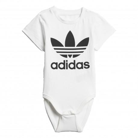 Adidas Originals I Trefoil Bodysuit Uniszex Bébi Body (Fehér-Fekete) D96070 6e5d4e4ce9