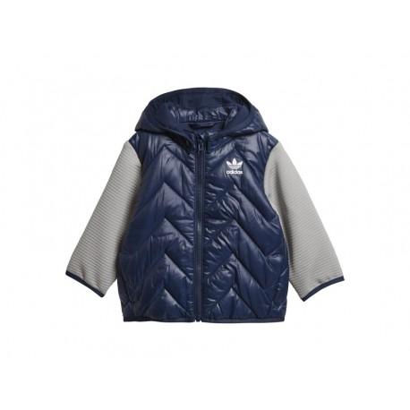 998dc11bb6 Adidas Originals Trefoil Midseason Jacket Kisfiú Bébi Kabát (Sötétkék)  D96075