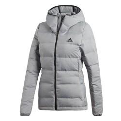 Adidas W Helionic Melange Női Téli Kabát (Szürke-Fekete) CZ1385