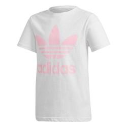 Adidas Originals Trefoil Tee Lány Gyerek Póló (Fehér-Rózsaszín) DH2475