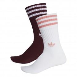 Adidas Originals Solid Crew Socks 2 Pairs 2 Páras Zokni (Bordó-Fehér-Rózsaszín) DH3361