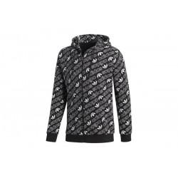 Adidas Originals Monogram Hoodie Férfi Felső (Fekete-Fehér) DH4781