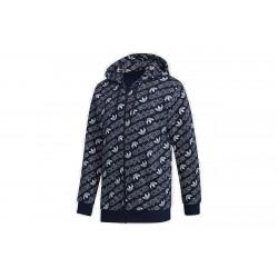 Adidas Originals Monogram Hoodie Férfi Felső (Kék-Fehér) DH4782