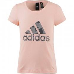 Adidas YG Logo Tee Lány Gyerek Póló (Rózsaszín) DJ1325
