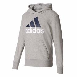 Adidas Essentials Linear Pullover Hoodie Férfi Pulóver (Szürke) S98775