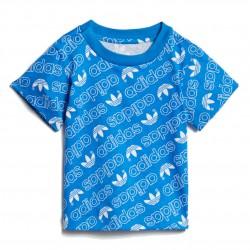 Adidas Originals Trefoil Monogram Tee Kisfiú Bébi Póló (Kék-Fehér) DN8162