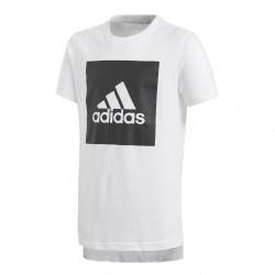 Adidas YB Logo Tee Fiú Gyerek Póló (Fehér-Fekete) CF6519