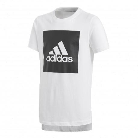 571563d550 Adidas YB Logo Tee Fiú Gyerek Póló (Fehér-Fekete) CF6519