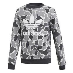 Adidas Originals J Trefoil C Crew Fiú Gyerek Pulóver (Szürke) DH2709