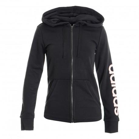 8acffa8b204b Adidas Essentials Linear Full Zip Hoodie Női Felső (Fekete) DI0119