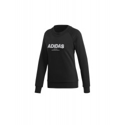 Adidas Essentials Allcap Sweatshirt Női Pulóver (Fekete-Fehér) CZ5690
