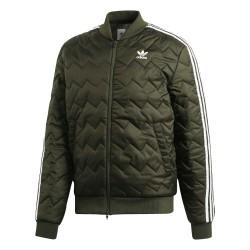 Adidas Originals SST Quilted Férfi Kabát (Zöld-Fehér) DL8697