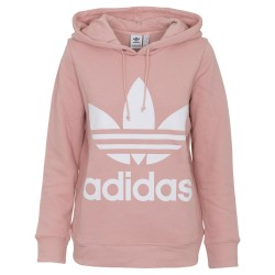 Adidas Originals Trefoil Hoodie Női Pulóver (Rózsaszín-Fehér) DH3134