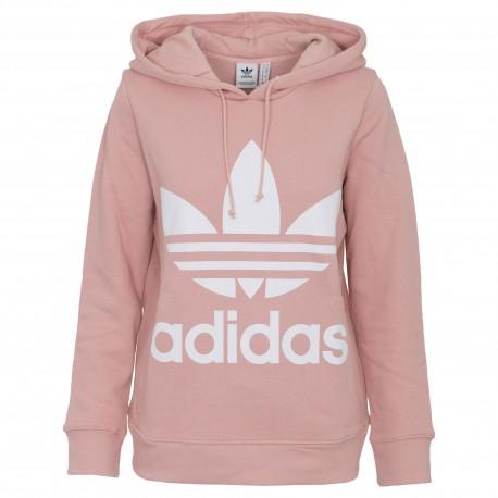d861b9fee8e3 Adidas Originals Trefoil Hoodie Női Pulóver (Rózsaszín-Fehér) DH3134