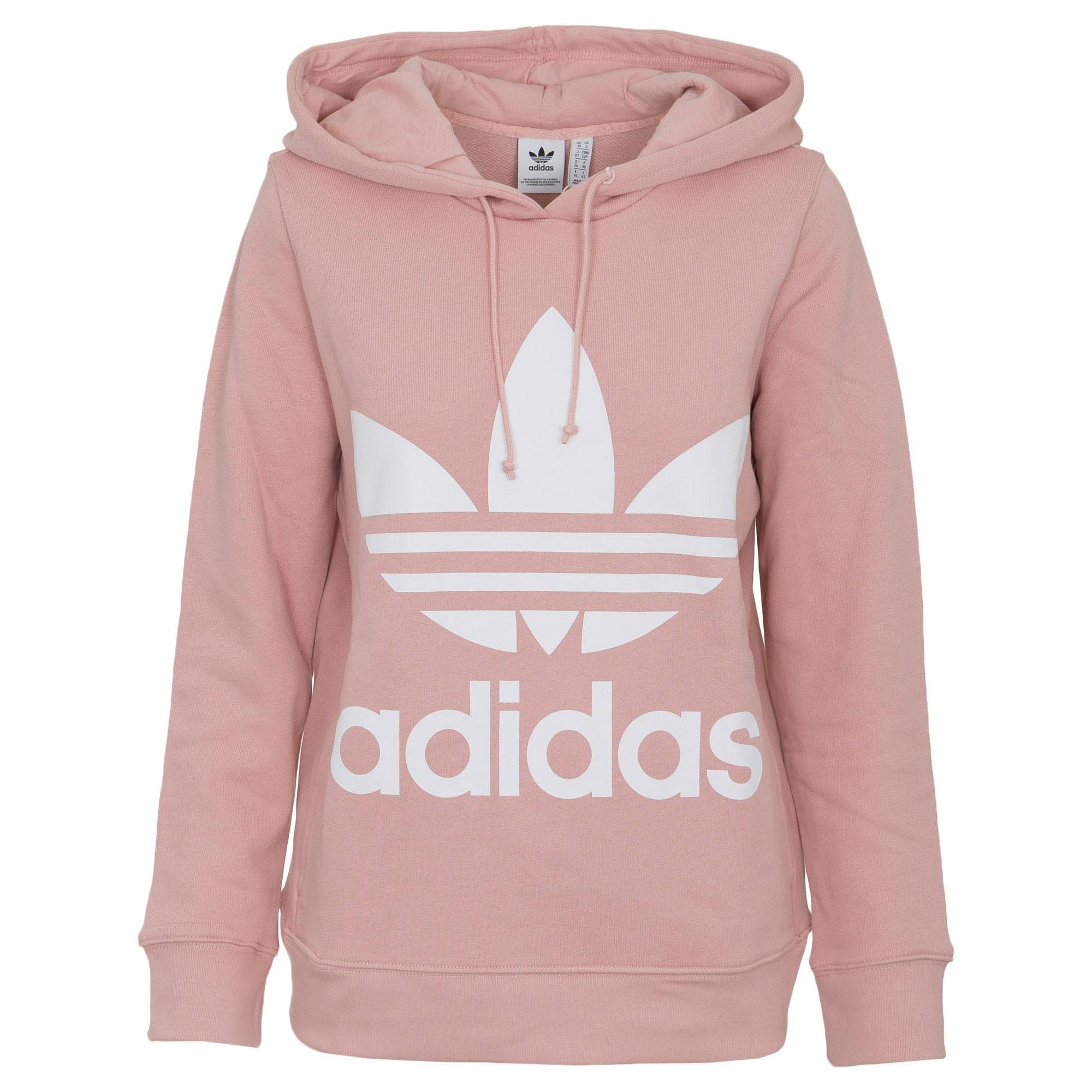 74de017a02 Adidas Originals Trefoil Hoodie Női Pulóver (Rózsaszín-Fehér) DH3134