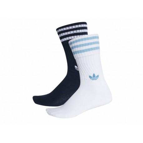 eb1269ed90 Adidas Originals Solid Crew Socks 2 Pairs 2 Páras Zokni (Kék-Fehér) DH3363