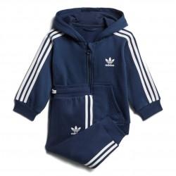 Adidas Originals Trefoil FZ Hoodie TS Kisfiú Bébi Melegítő Együttes (Kék-Fehér) D96096