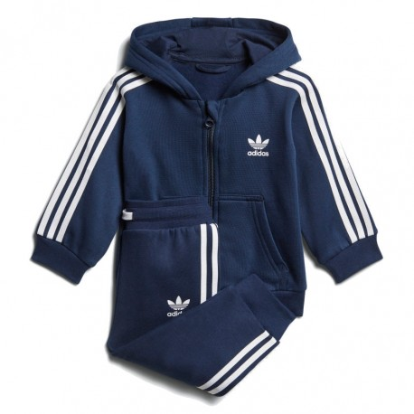 Adidas Originals Trefoil FZ Hoodie TS Kisfiú Bébi Melegítő Együttes (Kék- Fehér) D96096 00674b5278