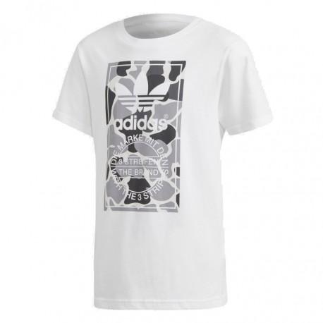 Adidas Originals Camo Trefoil Tee Fiú Gyerek Póló (Fehér) DH2708