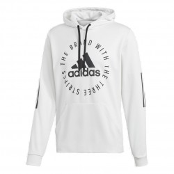 Adidas Sport ID Hoodie Férfi Pulóver (Fehér-Fekete) DQ1467