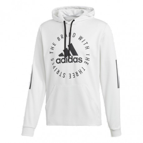 b5d0b3a917 Adidas Sport ID Hoodie Férfi Pulóver (Fehér-Fekete) DQ1467