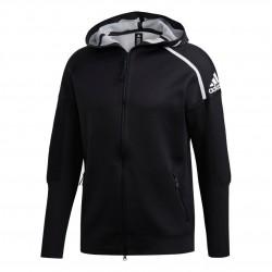 Adidas M ZNE Primeknit Hoodie Férfi Felső (Fekete-Fehér) DT0905