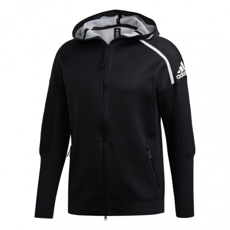 Adidas M ZNE Primeknit Hoodie Férfi Felső (Fekete-Fehér) DT0905 1d88c00feb
