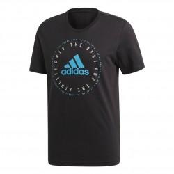 Adidas MH Emblem Tee Férfi Póló (Fekete-Kék) DV3099