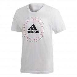 Adidas MH Emblem Tee Férfi Póló (Fehér-Fekete) DV3100
