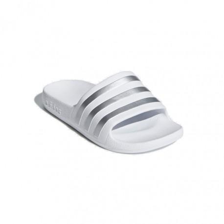 Adidas Adilette Aqua K Lány Gyerek Papucs (Fehér Ezüst) F35555