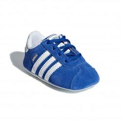 Adidas Originals Gazelle CRIB Kisfiú Bébi Kocsicipő (Kék-Fehér) CG6541