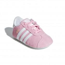 Adidas Originals Gazelle CRIB Kislány Bébi Kocsicipő (Rózsaszín-Fehér) CG6542