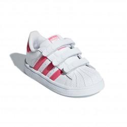 Adidas Originals Superstar CF I Kislány Gyerek Cipő (Fehér-Rózsaszín) CG6638