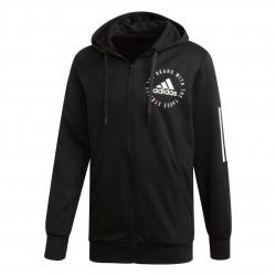 Adidas Sport ID Hoodie Férfi Pulóver (Fekete-Fehér) DT9915
