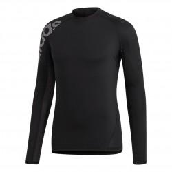 Adidas Alphaskin Badge Of Sport Tee Férfi Futó Felső (Fekete) DW4147