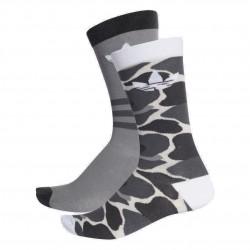 Adidas Originals Crew Socks 2PP 2 Páras Zokni (Szürke-Fehér) DH1021