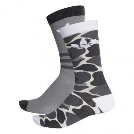 16ef01bfcd Adidas Originals Crew Socks 2PP 2 Páras Zokni (Szürke-Fehér) DH1021